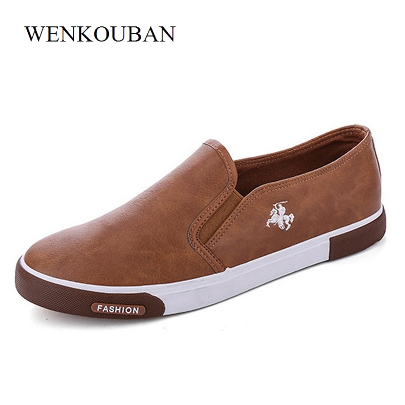 Summer Men Sneakers Flat Shoes Casual Loafers Black Brown Moccasins Hombre Male Shoes Adult Slip-On Boat Shoes Zapatos Hombre black real leather 2017 mules summer brown european loafers men genuine shoes moccasins half male casual slip ons hot sale page 8