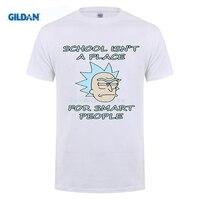 GILDAN Newest Fashion Design T Shirt Catoon Rick Morty Printed T Shirt Summer Mens Harajuku Hipster