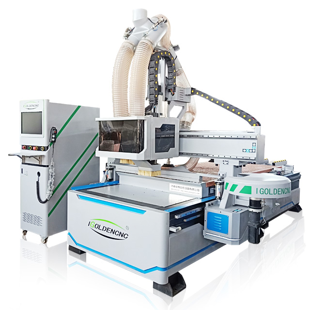 4*8 HSD 9kw Atc Spindle Woodworking Cnc Router Machine For Furniture Door Making Atc Cnc Router Machine