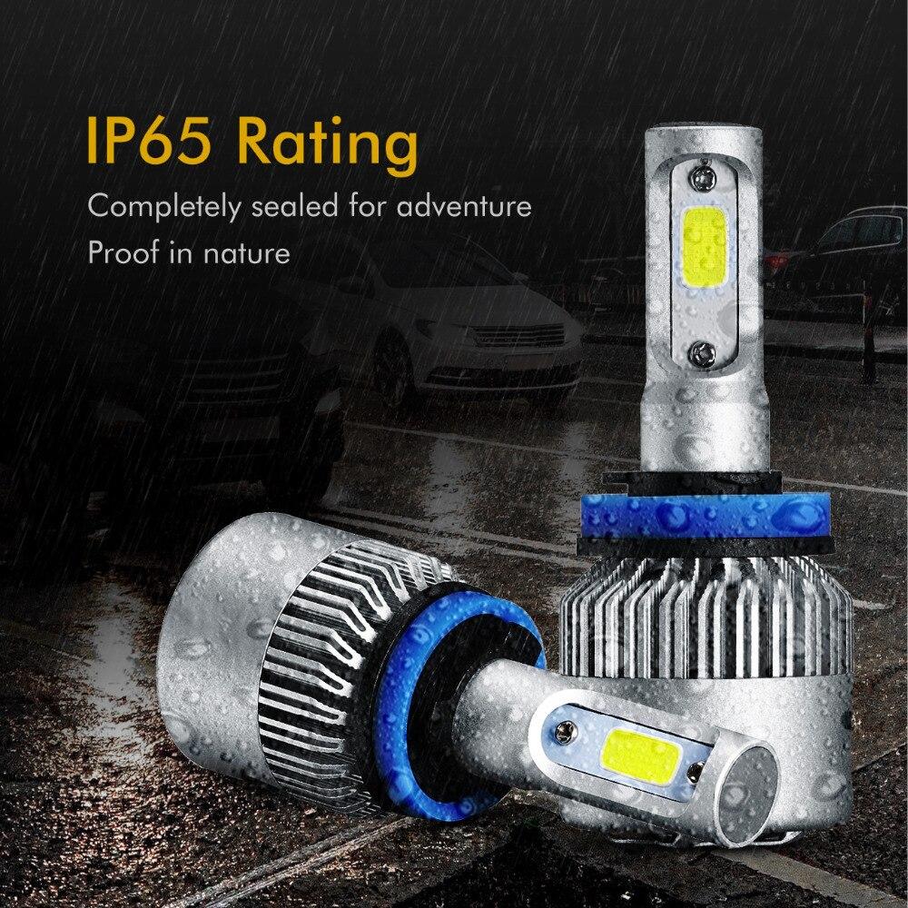 Auxmart 2Pcs 72W 8000lm H11 H4 Λαμπτήρες - Φώτα αυτοκινήτων - Φωτογραφία 5