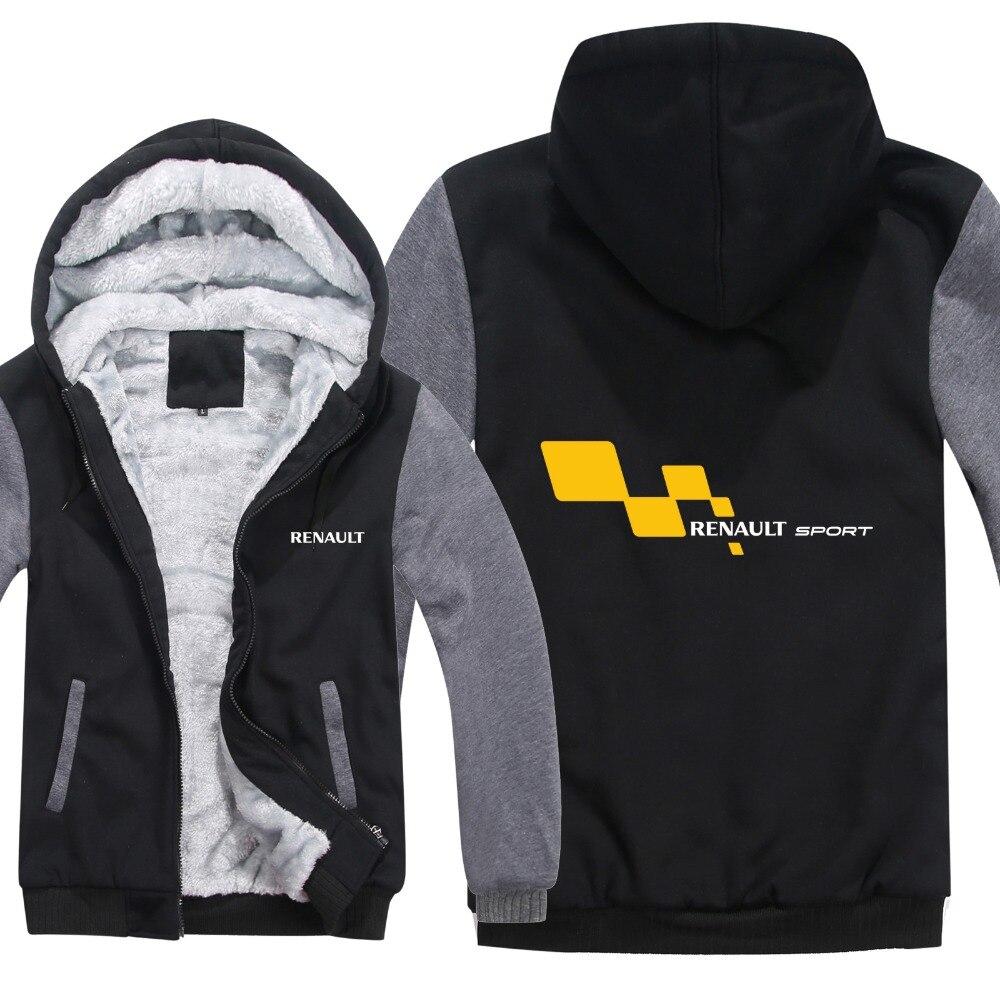 Renault Sport Hoodies Winter Men Fashion Wool Liner Jacket Renault Sport Sweatshirts Men Coat HS-106