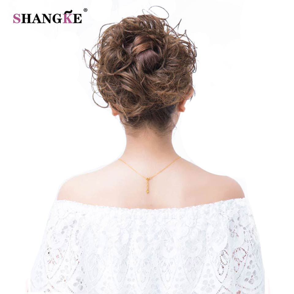 SHANGKE Long Curly Hair Tails Flip In Hair Extensions Heat Resistant Synthetic Fake Hair Pieces Natural Hairstyles Women