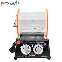 5KG Rotary Tumbler Polisher Jewelry Bench Polisher Finisher Machine Mini Rotary Tumbler Variable Speed for Finishing Burnishing