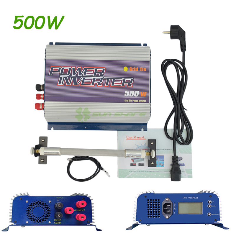Free shipping! AC to AC 3 Phase Wind Grid Tie Inverter 500W With Dump Load and LCD display 12V/24V to 110V/120V/220V/230V/240V free shipping 400w wind generator 500w 3phase ac 10 8v 30v ac22 60v input wind grid tie inverter no need battery ac 110v 220v