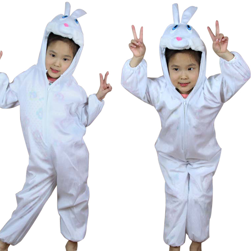 Animal Small rabbit Cartoon animal suits / Children's Day performance clothing / Halloween Kids Cosplay costume Fancy dress
