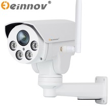 EINNOV 1080P PTZ IP CCTV Security Surveillance Camera IR Outdoor Onvif SONY IMX323 With 16G SD Card Audio P2P Wifi Wireless POE