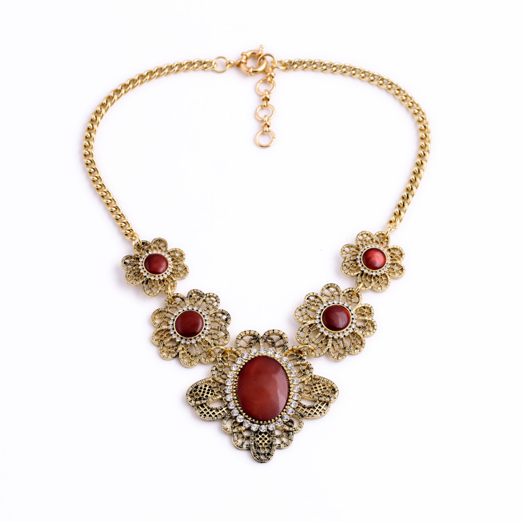 Hollow Flower Women Jewelry Infinity Romance Designer Red Cute ...
