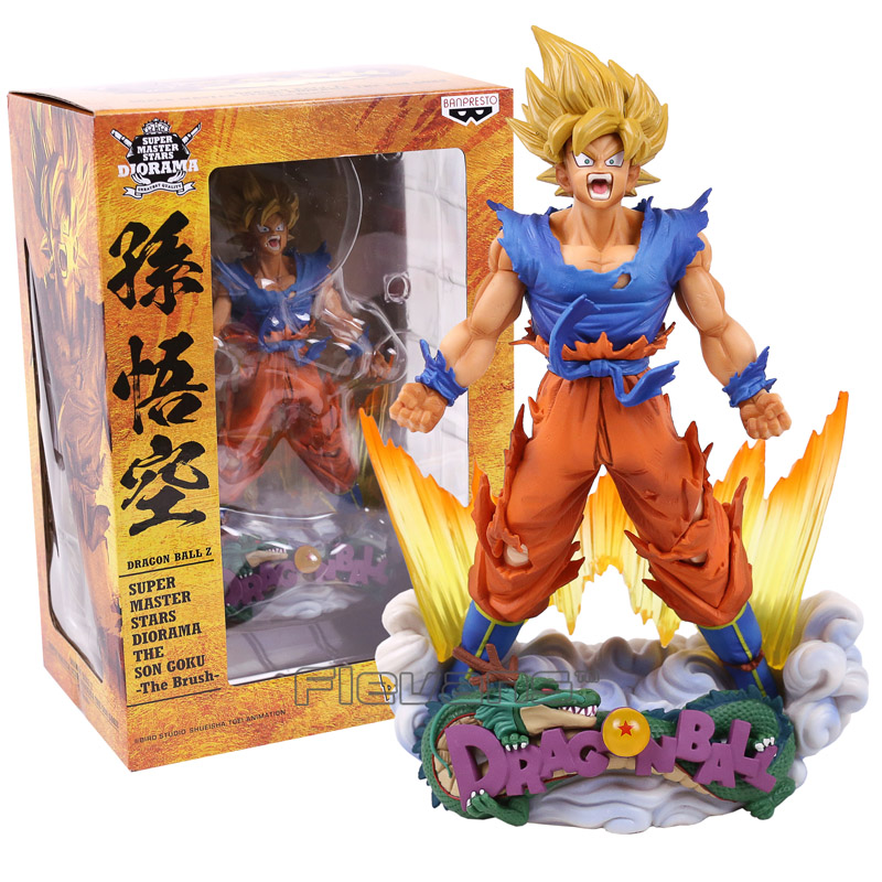 Dragon Ball Z Super Master Stars Diorama The Son Goku The Brush PVC Figure Collectible Model Toy 24cm cf anime dragon ball z super master stars piece the son goku figure toy doll big size pvc action model collection gift for boys