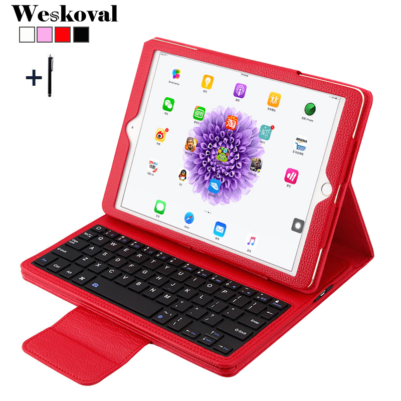 For iPad Pro 10.5 inch Wireless Bluetooth Keyboard Case For iPad Pro 10.5'' Tablet Flip Leather Stand Cover Capa Fundas+Stylus universal removable wireless bluetooth keyboard pu leather case cover stand for 7 8 inch tablet pc with free stylus
