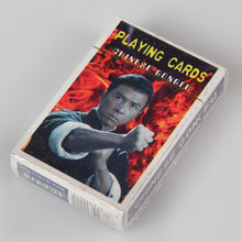 Chinese kungfu Jeet Kune do stars Donnie Yen Jackie Chan Jet Li Bruce Lee poker celebrity artistic playing cards novelty present(China)