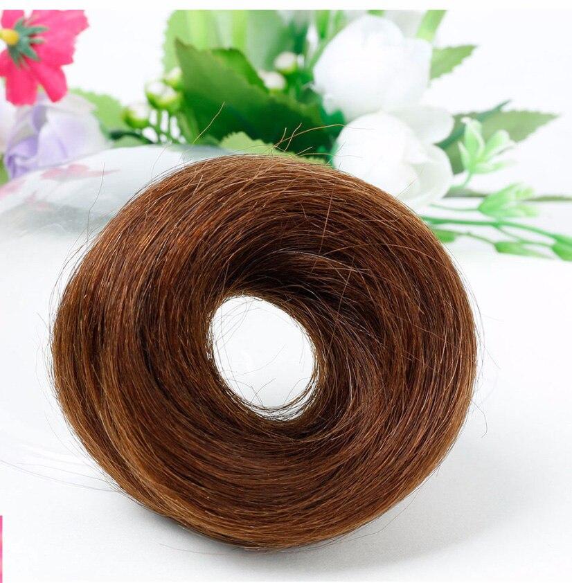 saco de cabelo humano chignon bun extensões