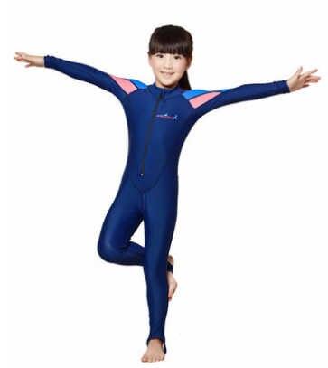 Mode Stof Meisje Jongen Een stuk Badpak Wetsuits Lycra Surfen Vrouwen surf kleding neopreen Kinderen Zwemmen Pak Duiken