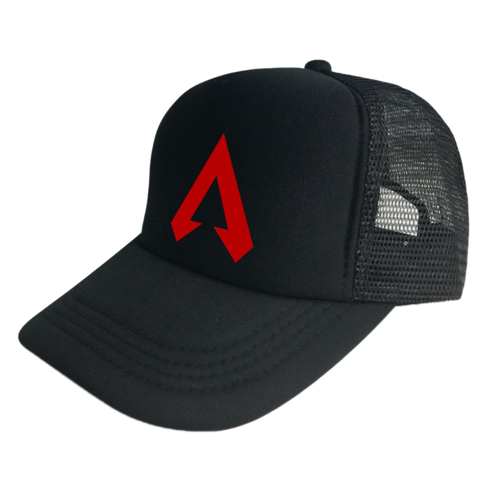 2019 Hot Game Apex Mesh Baseball Cap Unisex Print Black White Cotton Hip Hop Caps Adjustable Snapback Adults Sport Trucker Hat in Costume Accessories from Novelty Special Use
