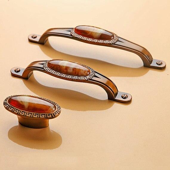 Cabinet Door Handles Pulls Knobs Amber Bronze Dresser Pulls Drawer ...