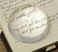 60mm 50pcs /lot dome paperweight ,magnifying glass paperweight,clear paperweight as desk decor Clear Magnifying Glass Cabochon
