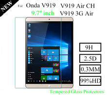 3Piece for Teclast X98 9.7 Tempered Glass Protector For Onda V919 Air Glass Protect Films(China)
