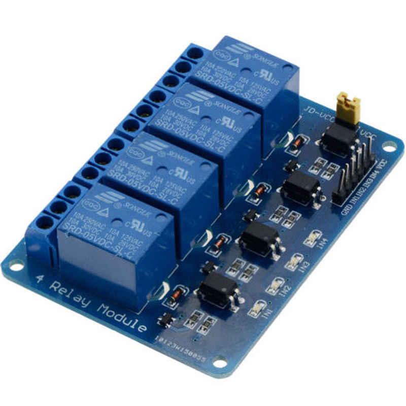 1PCS 4 Kanäle Relais Board Modul für Arduino Himbeere Pi ARM AVR DSP PIC