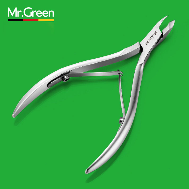 MR.GREEN Nail Clipper Cuticle Nipper Cutter Acciaio inossidabile Pedicure Manicure Scissor Chiodo Strumento per tagliare la pelle morta Cuticola