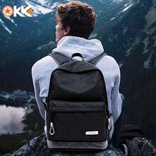 KAKA rahat kadın Laptop sırt çantası erkek USB şarj su geçirmez erkek sırt çantası Mochila siyah Schoolbag sırt çantaları gençler için çanta
