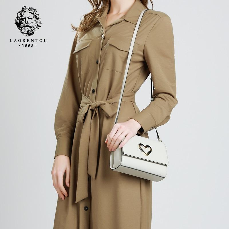 Laorentou Designer Women Shoulder Bag Female Exclusive Leather Flap Bag Women Messenger Bags Fashion Crossbody Bag