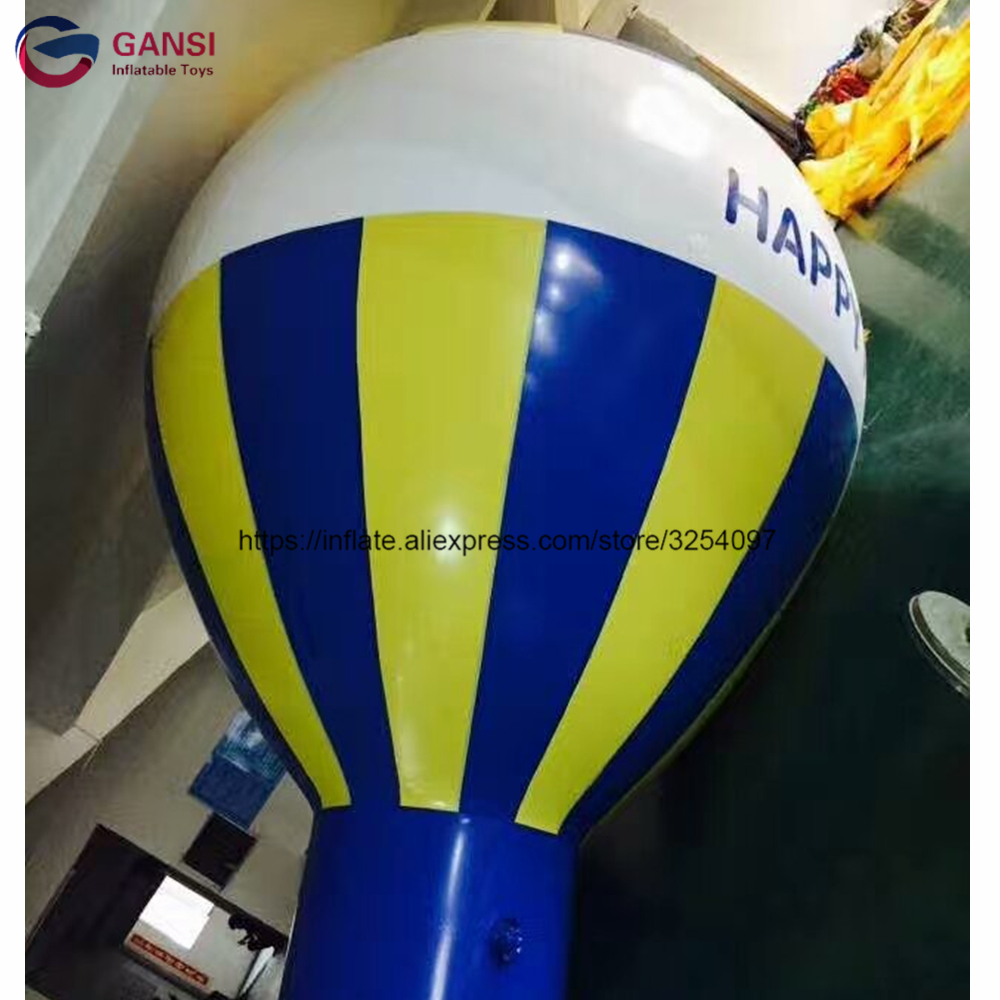 0.18mm pvc hot air balloon shape flying sky helium blimp 5m height inflatable ground balloon for event0.18mm pvc hot air balloon shape flying sky helium blimp 5m height inflatable ground balloon for event