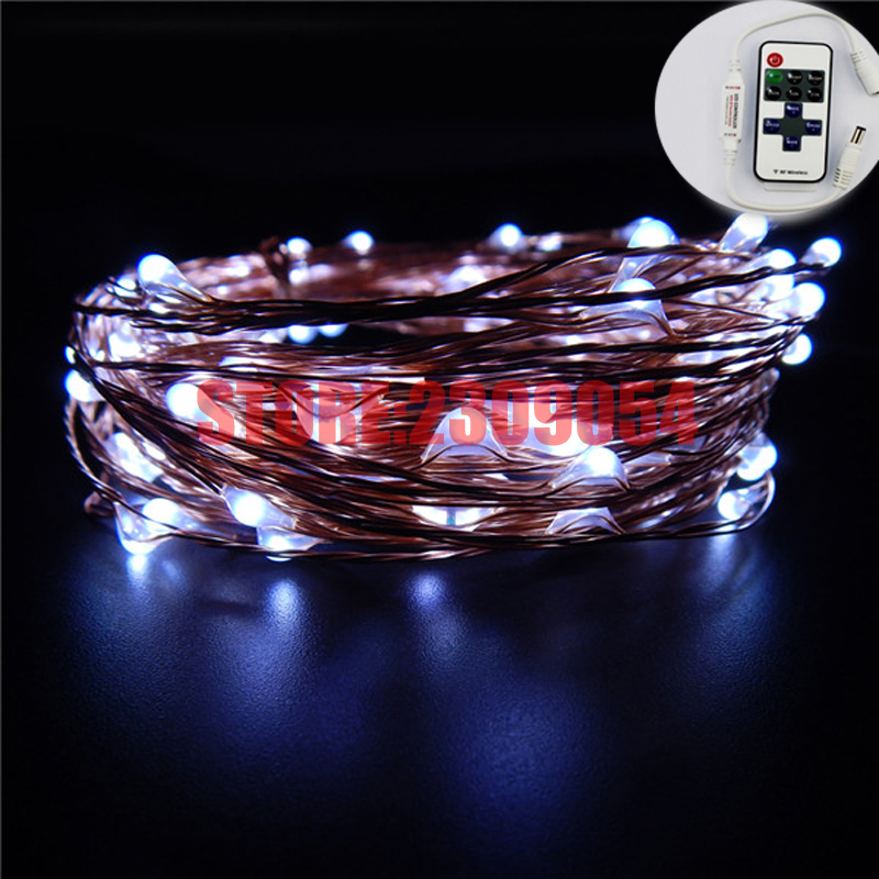 66FT / 20M 200 ledninger Kobber Wire Hage LED String Starry Light - Ferie belysning - Bilde 5