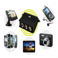 WUPP New Multi Function USB Socket Charger USB Port 3way Socket Car Accessories Cigarette Lighter Hypersonic