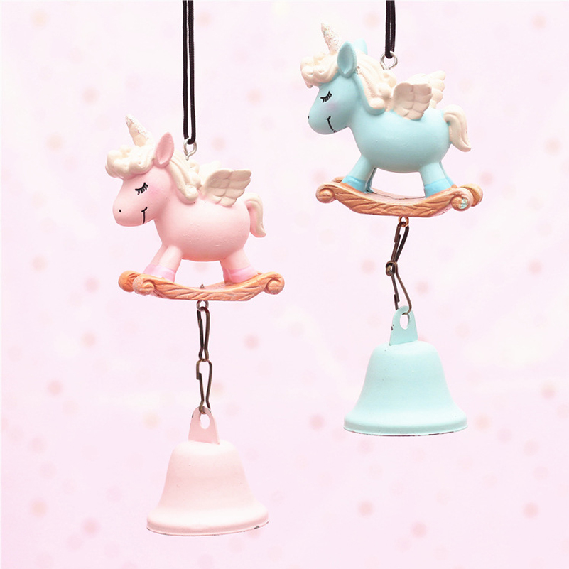 Metal Unicorn With Tube Wind Chimes Heart Pigeons Pendant Wind Chime Hanging Ornament Musical Toy Home Decor Kids Child Gifts Low Price Home Decor