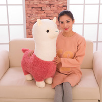 OCHGEP Large Size Plush Toy Cute Alpaca Plush Doll Fabric Sheep Soft Stuffed Animal Plush Llama Yamma Toy For Children Baby Gift