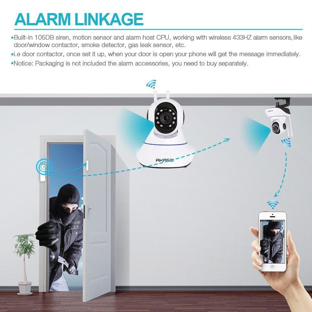ФОТО AKASO wireless ip camera 720p wi-fi cctv home security camera surveillance onvif baby monitor for wifi  alarm system