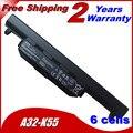 Bateria do portátil para A32-K55 A45V A45D A45N A55A A55D A55N A55V A75A A75D A75V K45D K45N K45V K55A K55D K55N K55V Series