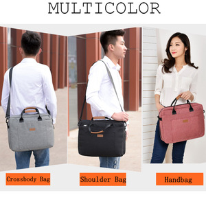 Image 3 - Men Canvas Business Briefcase Office Travel Messenger Large Tote Womens Computer Work Bag Business Trip File Package Laptop Bag