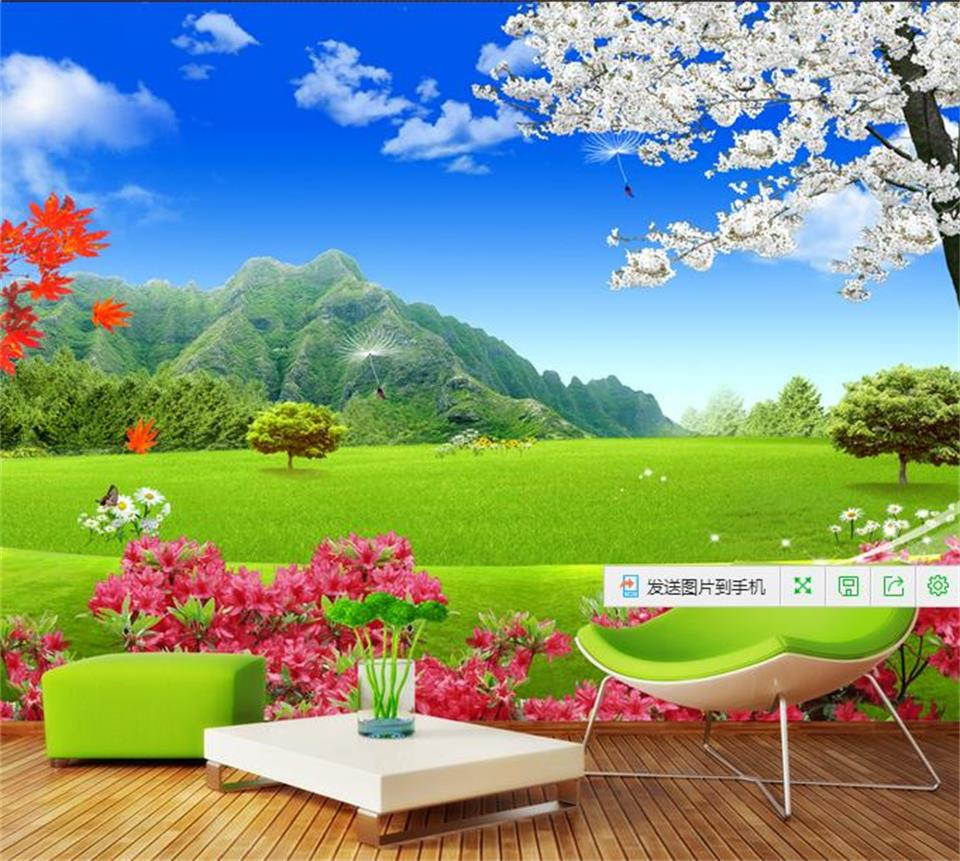 online get cheap grass bedding aliexpresscom  alibaba group - d wallpaper custom mural photo wallpaper d grass flowers sky wall papershome decor bedding mural