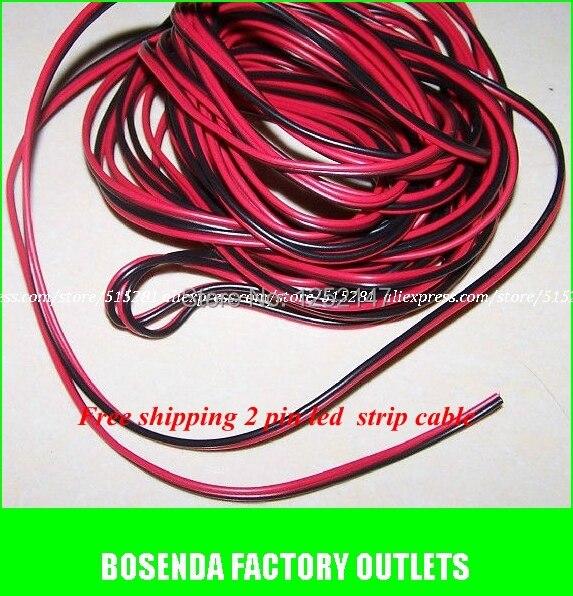 1 mt/paket 2Pin Verlängerung Elektrische Draht Kabel Rot/Schwarz ...