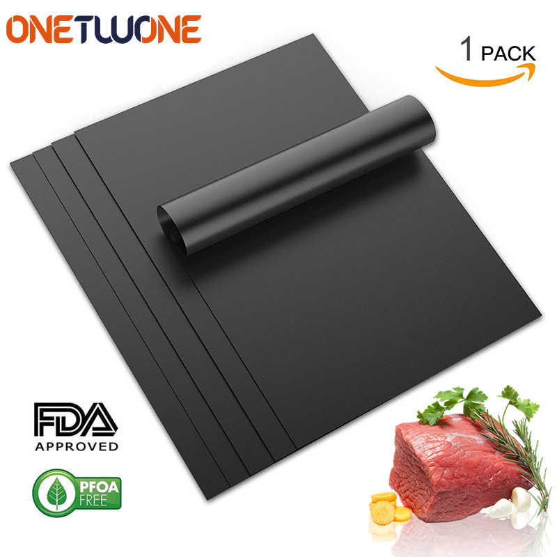 BBQ Grill Mat Non Stick BBQ Grill Roast Mat Sheet Cooking Baking Liners Reusable Outdoor Picnic Fry Mats Barbecue BBQ Tools Set