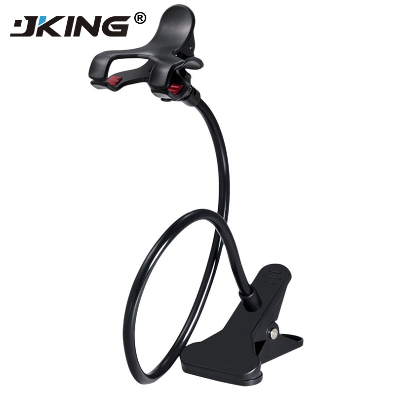 JKING 360 Rotating Flexible lazy bed desktop tablet car Long Arm holder stand selfie mount bracket for iPhone samsung