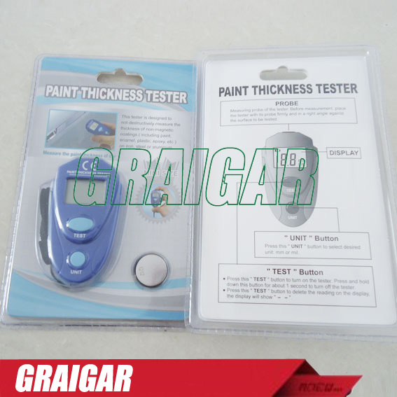 Mini pocket Digital Car auto Paint coating Thickness Tester meter Car painting thickness gauge EM2271 for second hand car market
