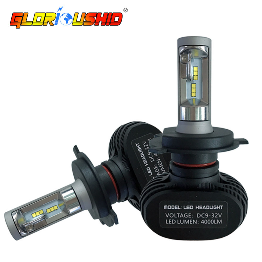 2pcs Led H4 Car Headlight 9003 HB2 High Low Auto fog Lamp 50W 8000LM Automobile Car Headlamp Bulb All In One CSP 6500K light