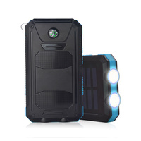 Solar Power Bank 20000mah Dual USB Li Polymer Mobile Phone Accessories Solar Battery Charger Travel External Battery Pack Sale