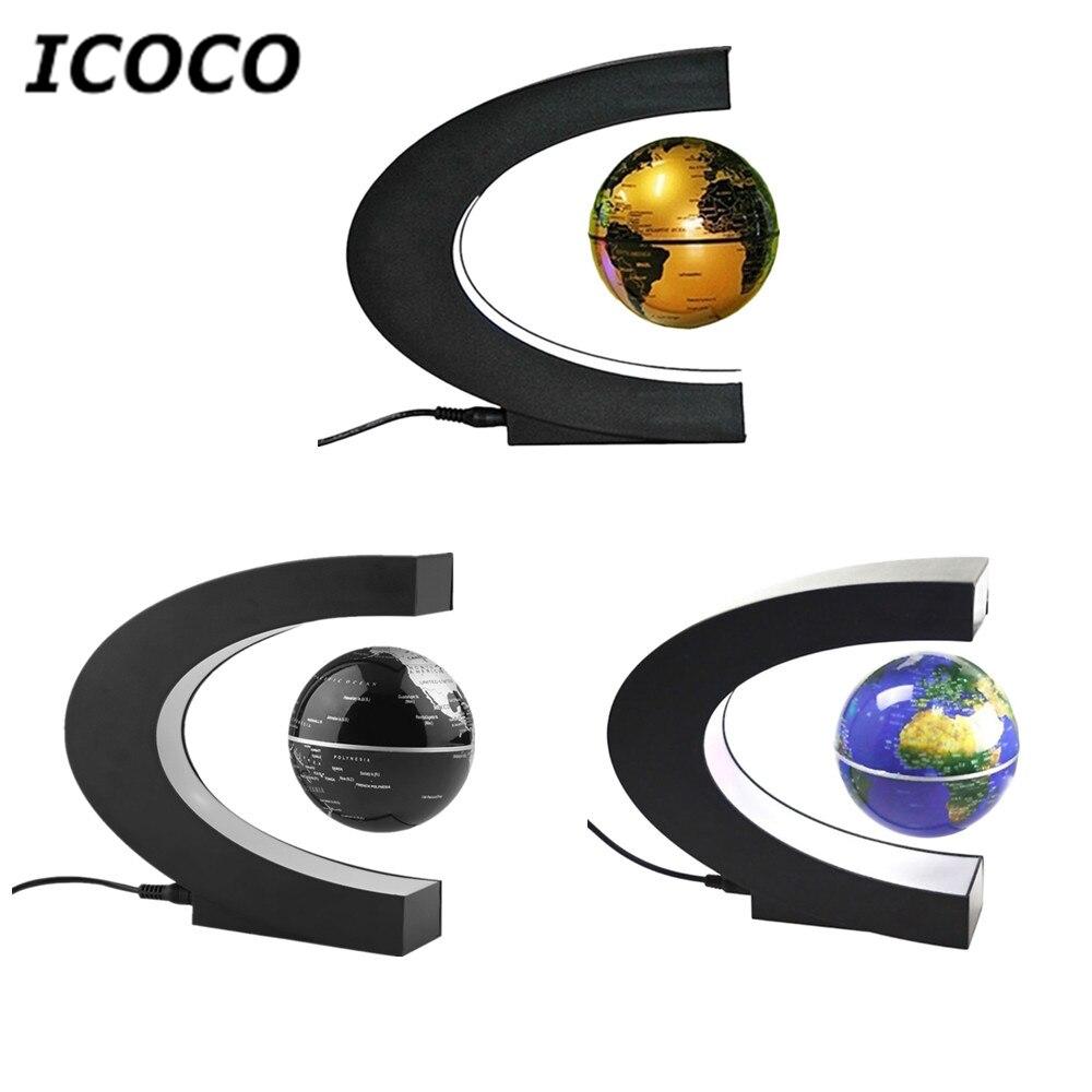 ICOCO LED Light Levitation Anti Gravity Globe Magnetic Floating Globe World Map Christmas Birthday Gift Home Decor Drop Shipping