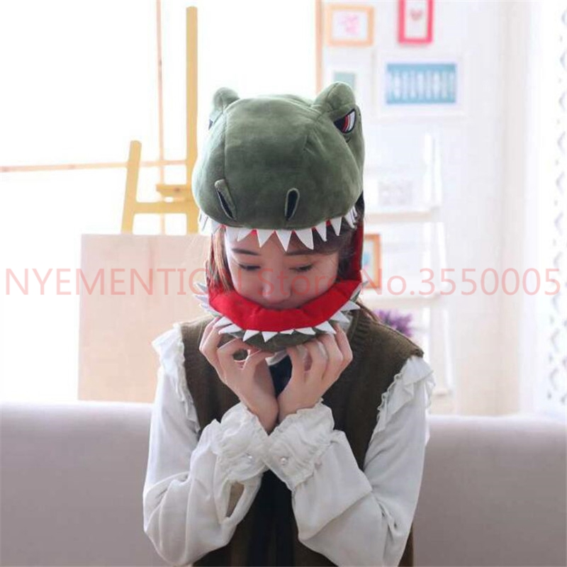 Dinosaurier Cosplay Kostüme Zubehör Hüte Dino Plüsch Spielzeug Erwachsene Kinder Kreative Phantasie Hut Kappe 2 Stücke Kaufe Eins, Bekomme Eins Gratis