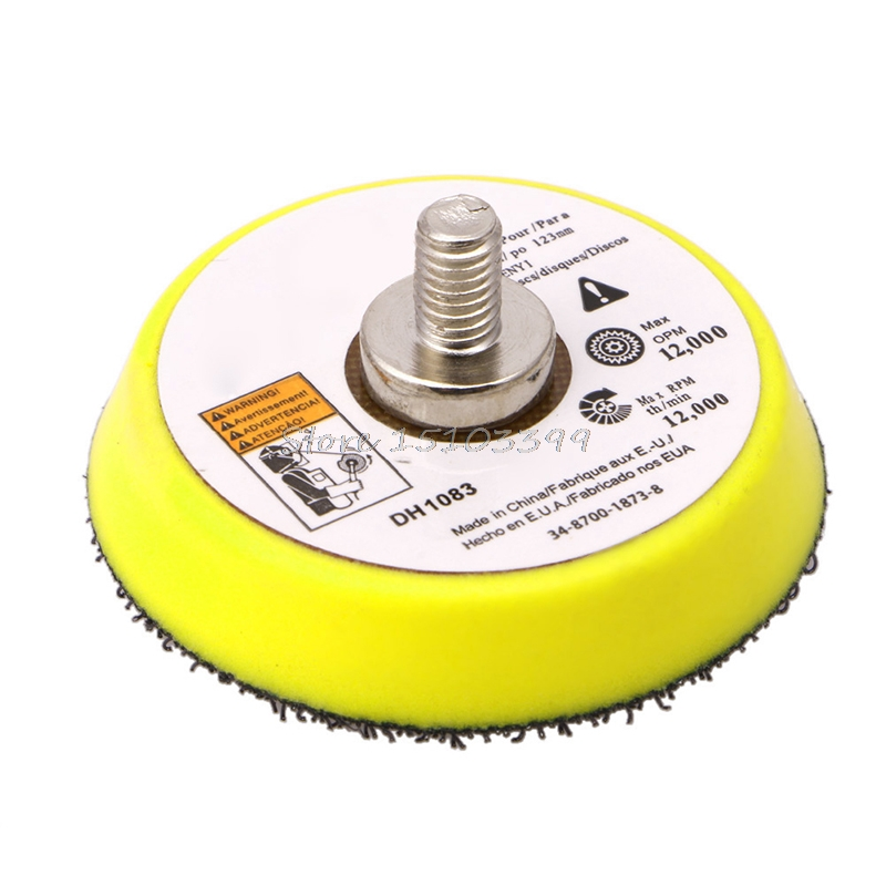 50/75/100/125/150MM Polishing Sander Backer Plate Napping Hook Loop Sanding Disc Pad Drop Ship