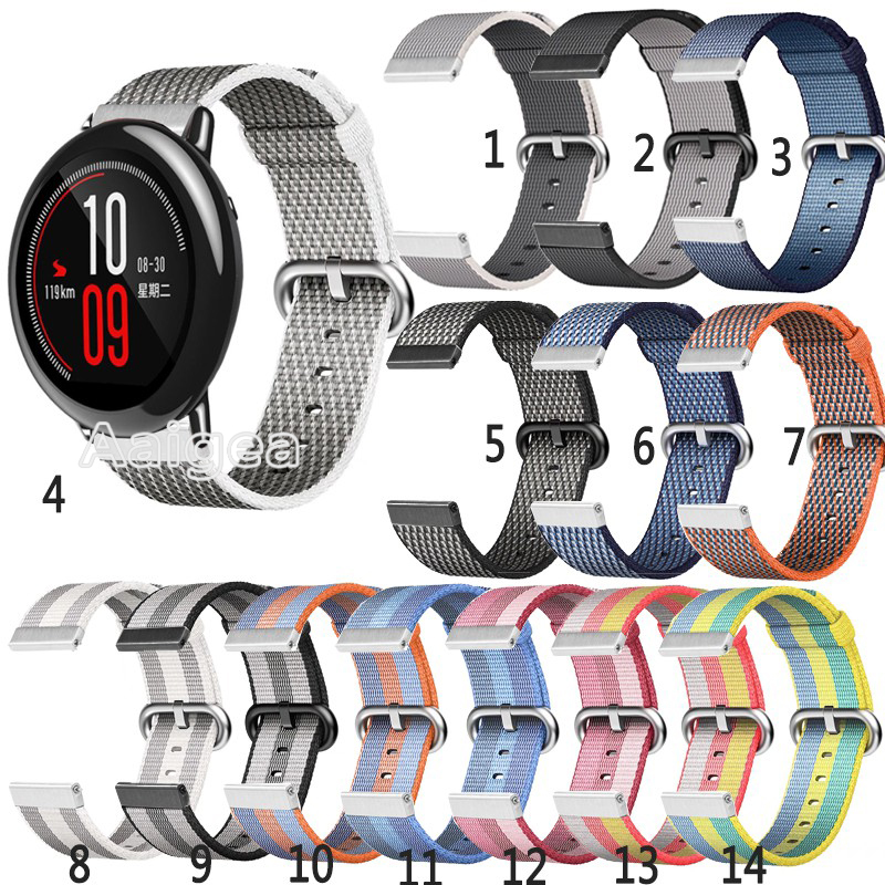 Woven Nylon Replacement Sport Loop Strap for Huami Amazfit Pace Smart Watch Colorful Sports watchband for huami amazfit pace ashei 22mm newest nylon loop watchbands for xiaomi huami amazfit strap watch band woven nylon fabric bracelet for huami amazfitt