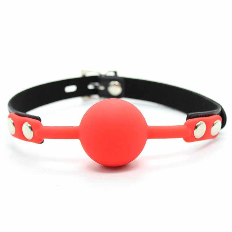 ... 1pcs Big Size Silicone Ball PU Leather Mouth Gag with Lock Sex Toys  Adult Games For ...