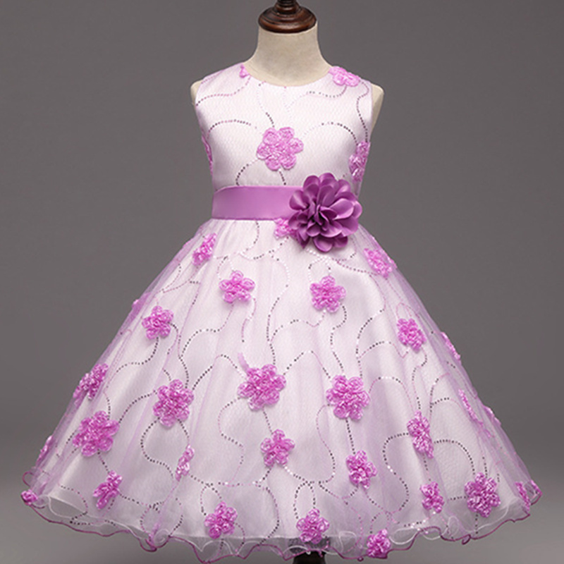 Подробнее о Baby Girls Flower Dresses Toddler Infant Princess Costume With Flower And Bow Children's Clothes For Wedding Party 2016 hot summer flower girls dress for wedding and party infant princess girl dresses toddler costume baby kids clothes