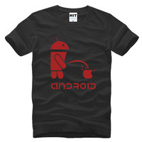 Android Robot Cool Funny Spoof Novelty Printed Mens Men T Shirt Tshirt 2016 New Short Sleeve