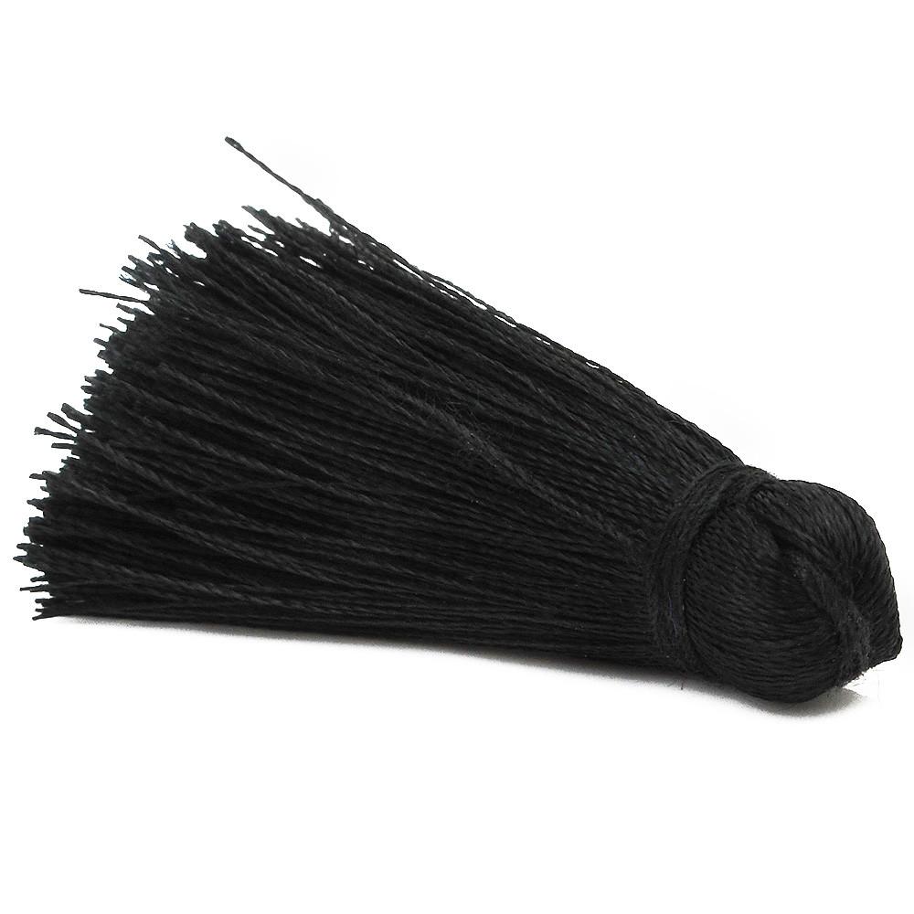 #TAA034 0.5\u201d-0.75\u201d Black Small Silk Tassel