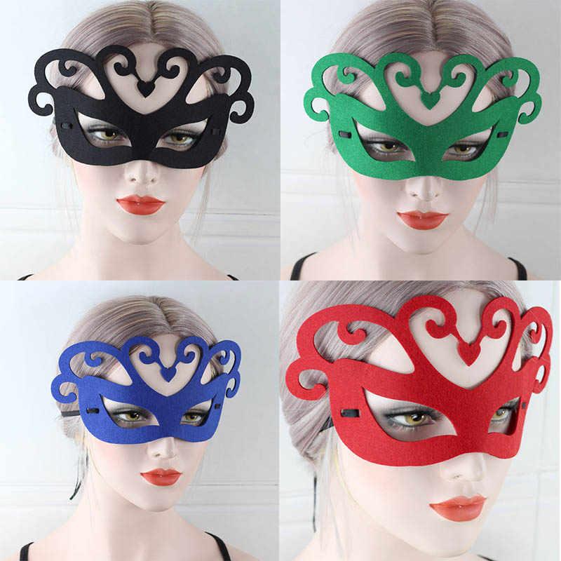 Królowa Halloween maska do oczu czuł tkaniny Halloween cosplay sexy kobiety maska twarzy ubrać się Masquerade Carnival party kobieta Masquerade