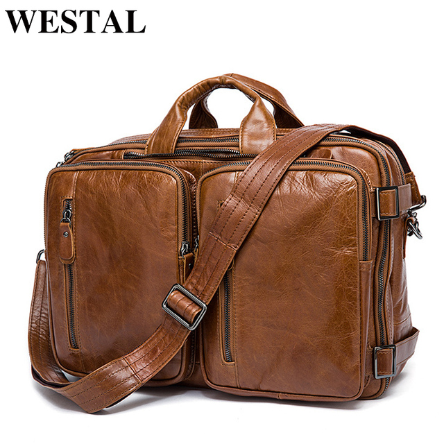 Westal Men S Briefcase Tote Messenger Bag Travel Laptop For Doent Business Leather