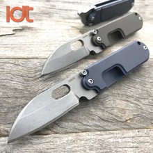 LDT Mini Bean Folding Knife S35VN Blade Titanium Handle Camping Outdoor Pocket Hunting Knives Rescue Military Utility Knife Tool